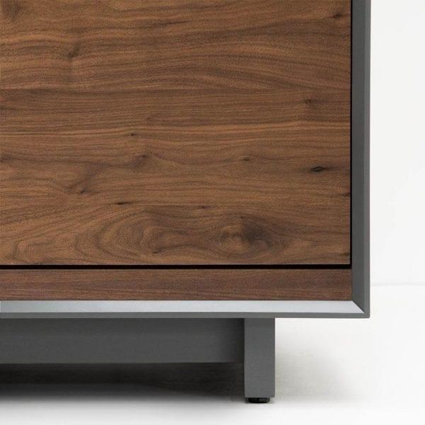 AERO Modern Stereo Cabinet LP Bin Foot Detail