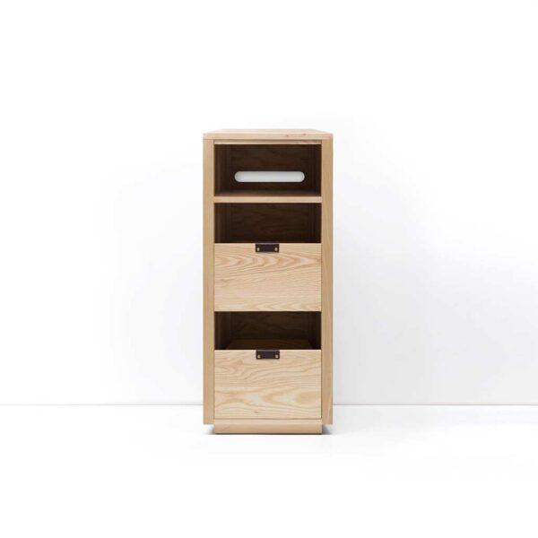 Dovetail Vinyl Storage Cabinet with Equipment Shelf